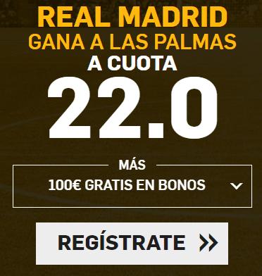 Supercuota Betfair la Liga Real Madrid - Las Palmas