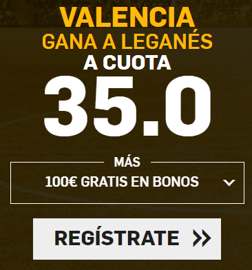 Supercuota Betfair la Liga Valencia - Leganes