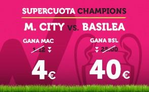 Supercuota Wanabet Champions M.City - Basilea
