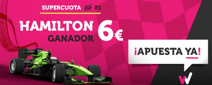 Supercuota Wanabet Formula 1 Hamilton Ganador