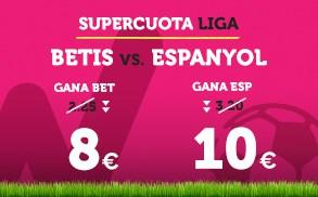Bonos de Apuestas Supercuota Wanabet la Liga Betis vs Espanyol