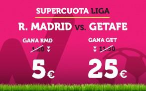 Supercuota Wanabet la Liga R. Madrid vs Getafe