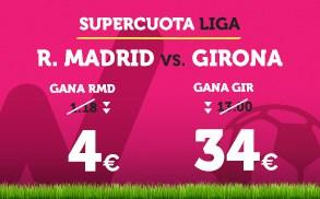Supercuotaa Wanabet la Liga R. Madrid vs Girona
