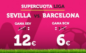 Supercuota Wanabet la Liga Sevilla - Barcelona