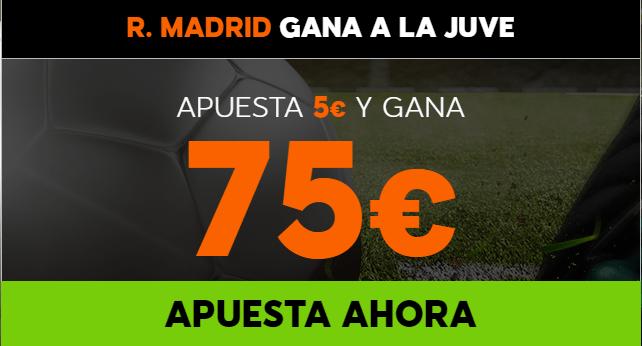 Supercuota 888sport Champions R. Madrid gana Juve