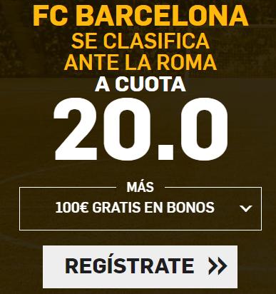 Supercuota Betfair Champions FC Barcelona - Roma