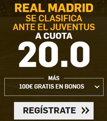Supercuota Betfair Champions Real Madrid - Juventus