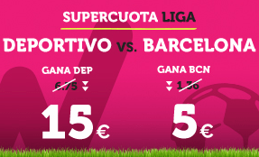 Supercuota Wanabet la Liga Deportivo vs Barcelona