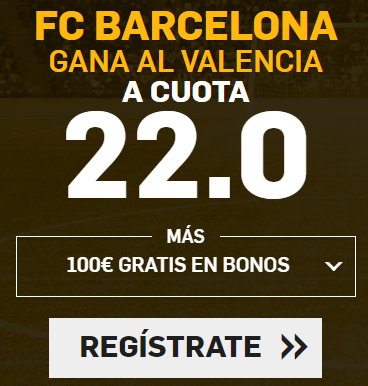 Supercuota Betfair la Liga FC Barcelona - Valencia