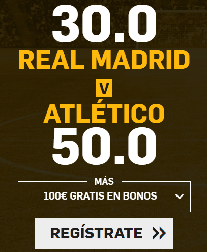 Supercuota Betfair la Liga Real Madrid - Atletico