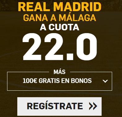 Supercuota Betfair la Liga Real Madrid - Malaga