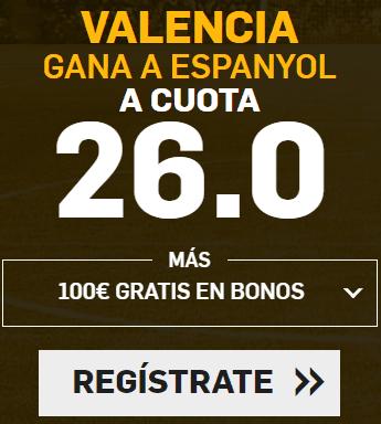 Supercuota Betfair la Liga Valencia - Espanyol