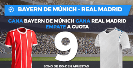 Supercuota Paston Champions League Bayern de Munich - Real Madrid