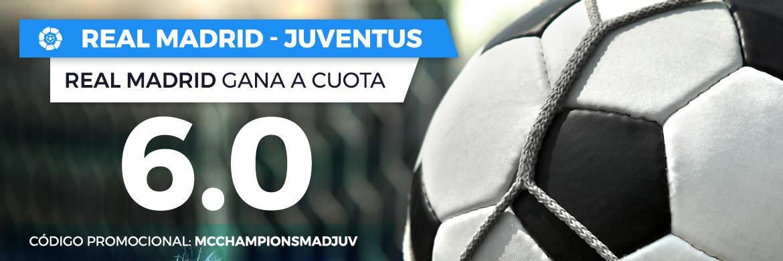 Supercuotas Paston Champions: Real Madrid - Juventus