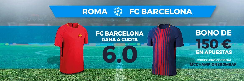Supercuota Paston Champions Roma - Barcelona