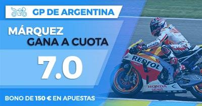 Supercuota Paston MotoGP - GP de Argentina Marquez gana a cuota 7.0