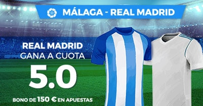 Supercuota Paston la Liga Malaga - Real Madrid