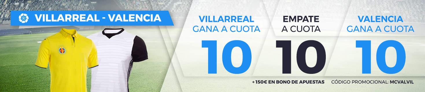 Supercuota Paston la Liga Villareal - Valencia