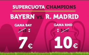 Supercuota Wanabet Champions Bayern vs R. Madrid