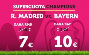 Supercuota Wanabet Champions League R. Madrid - Bayern