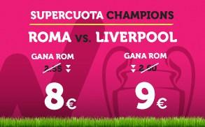 Supercuota Wanabet Champions League Roma vs Liverpool