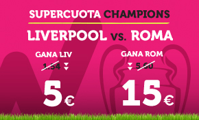 Supercuota Wanabet Champions Liverpool vs Roma