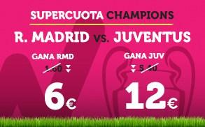 Supercuota Wanabet Champions R. Madrid - Juventus