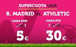 Supercuota Wanabet la Liga R. Madrid vs Athletic