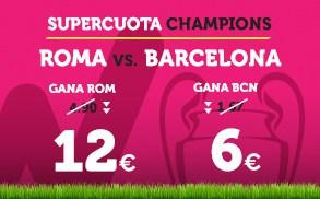 Supercuota Wanabet Champions Roma - Barcelona