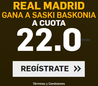 Supercuota Betfair Baloncesto Real Madrid gana a Saski Baskonia