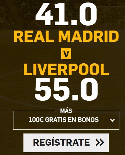 Supercuota Betfair Final Champions Real Madrid v Liverpool
