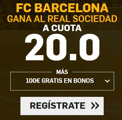 Supercuota Betfair la Liga FC Barcelona - Real Sociedad