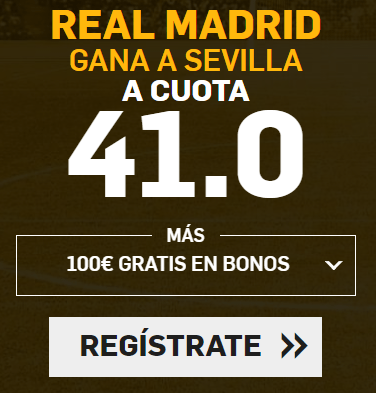 Supercuota Betfair la Liga Real Madrid - Sevilla