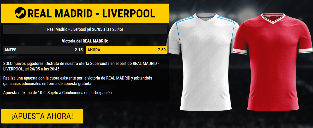 Supercuota Bwin Champions Real Madrid - Liverpool