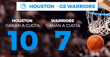 Supercuota Paston NBA Houston - GS Warriors