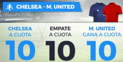 Supercuota Paston final FA Cup: Chelsea - M. United