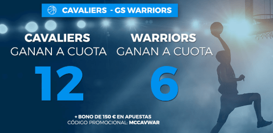 Supercuota Paston final NBA Cavaliers vs GS Warriors