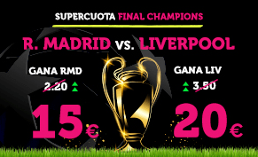 Supercuota Wanabet Final Champions R. Madrid vs Liverpool