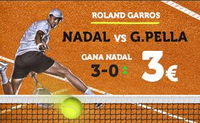 Supercuota Wanabet Roland Garros Nadal vs G. Pella