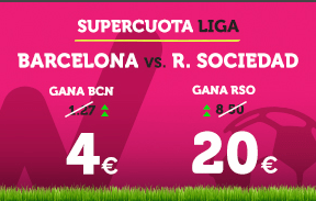 Supercuota Wanabet la Liga Barcelona vs R. Sociedad