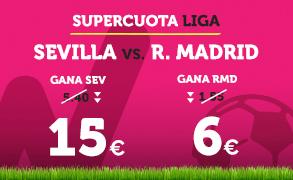 Supercuota Wanabet la Liga Sevilla vs R. Madrid