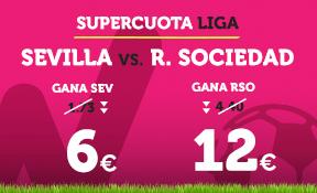 Supercuota Wanabet la Liga Sevilla vs R. Sociedad