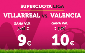 Supercuota Wanabet la Liga Villarreal vs Valencia
