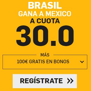 Supercuota Betfair Brasil - Mexico