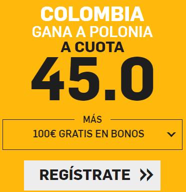 Supercuota Betfair Colombia - Polonia