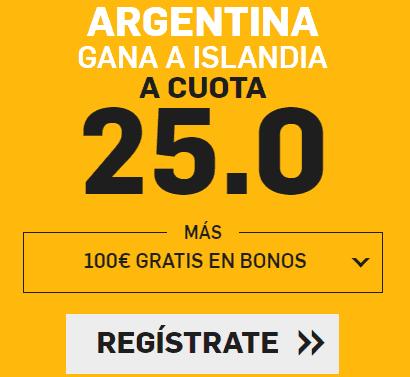 Supercuota Betfair Mundial Argentina - Islandia