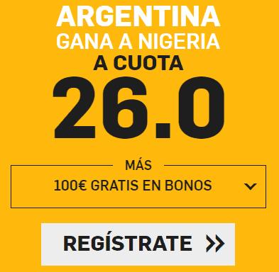 Supercuota Betfair Mundial Argentina - Nigeria