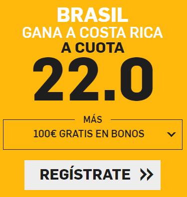Supercuota Betfair Mundial Brasil - Costa Rica