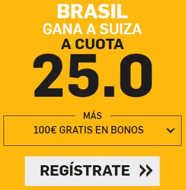 Supercuota Betfair Mundial Brasil - Suiza