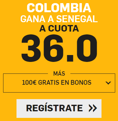 Supercuota Betfair Mundial Colombia - Senegal